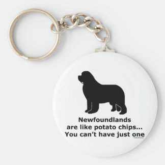Newfoundlands are like potato chips key ring