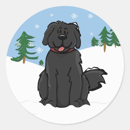 Newfy in Snow Sticker