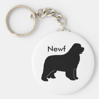 Newfy newf basic round button key ring