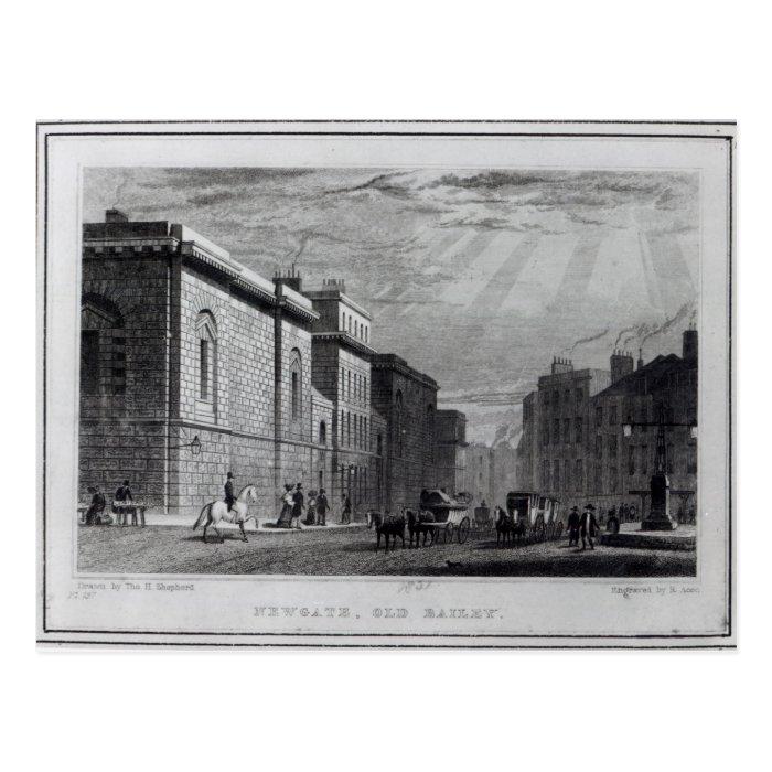 Newgate prison and the Old Bailey Postcard