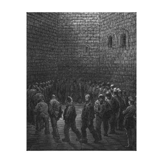 Newgate Prison Exercise Yard Gallery Wrapped Canvas