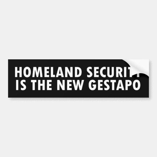 newGestapo Bumper Sticker