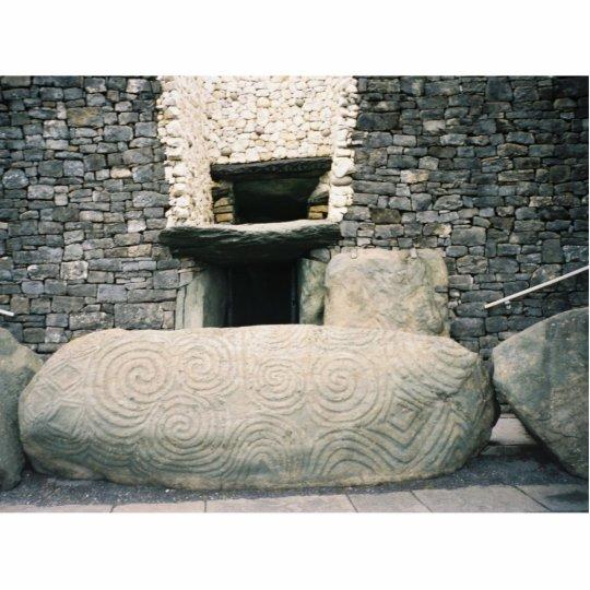 Newgrange Ireland, Ancient Spiral Symbols Standing Photo Sculpture
