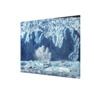 Newly-calved iceberg splashing into chilly gallery wrapped canvas