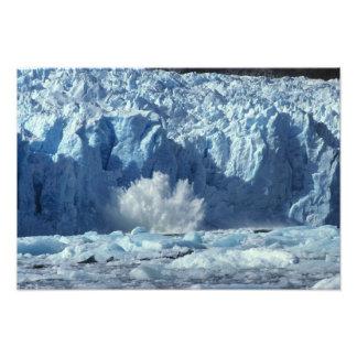 Newly-calved iceberg splashing into chilly photo print