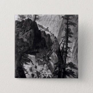 Newly Discovered Mines in the Rocky Mountains 15 Cm Square Badge