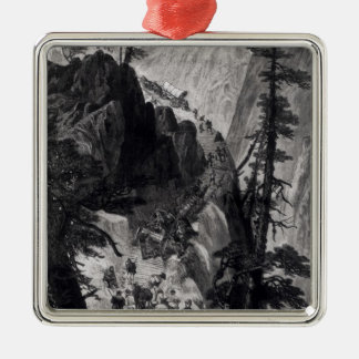 Newly Discovered Mines in the Rocky Mountains Silver-Colored Square Decoration