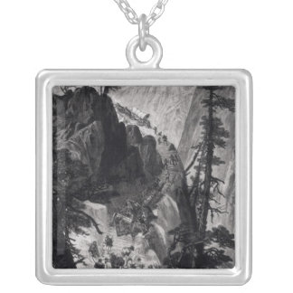 Newly Discovered Mines in the Rocky Mountains Silver Plated Necklace