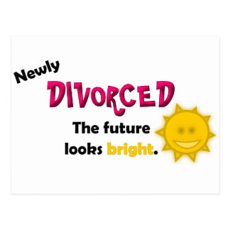 Newly Divorced Postcard