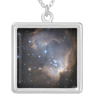 Newly formed stars silver plated necklace