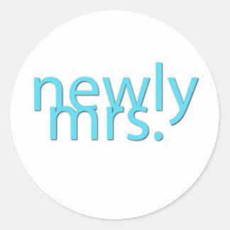 newly mrs blue sticker