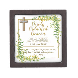 Newly Ordained Deacon Gift Scripture Verse Custom Gift Box