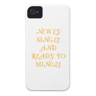 Newly Single and Ready to Mingle - 3 - Orange iPhone 4 Covers