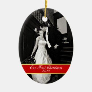 Newly Wed First Christmas Ornament