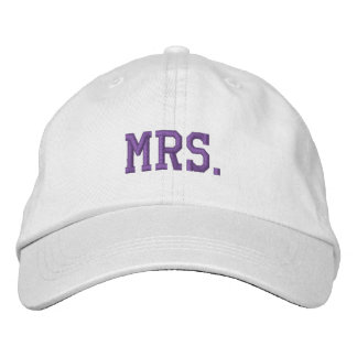 Newly Wed Mrs. Embroidered Ball Cap Embroidered Baseball Caps