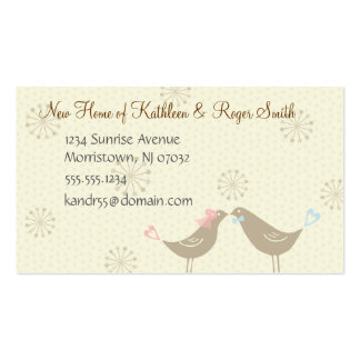 Newly Wed New Home Address Business Card Insert