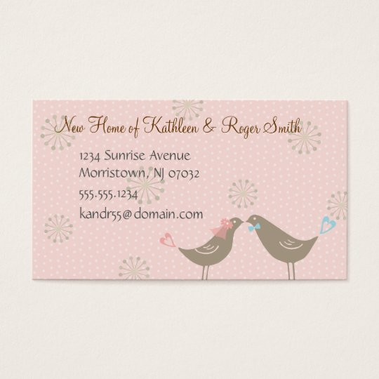 Vintage baby girl business cards business card printing zazzle uk newly wed new home address business card insert reheart Image collections