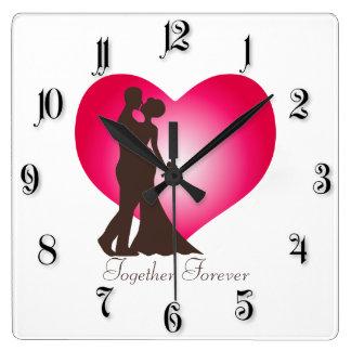 Newly wedded couple clocks