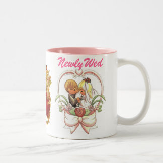 Newlywed (1), Precious Wedding Couple Two-Tone Coffee Mug