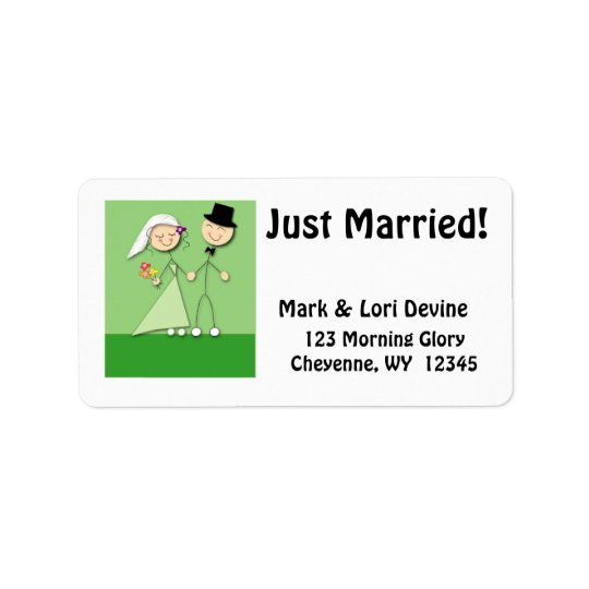 Newlywed Cartoon Designer labels
