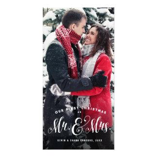 Newlywed Christmas card