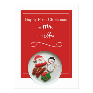 Newlywed Christmas Postcard