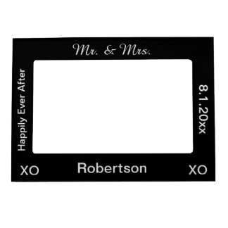 Newlywed Couple Mr. & Mrs. Photo Frame Frame Magnets