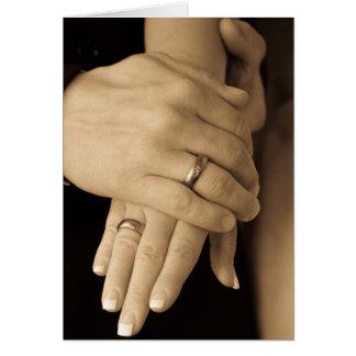Newlywed Hands, Congratulations Card