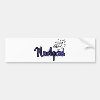 Newlywed-Indigo Blue Bumper Sticker