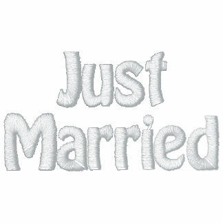 Newlywed Just Married Embroidered Hooded Sweatshirts