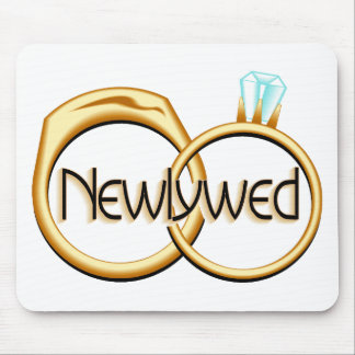 Newlywed Rings Mouse Mat