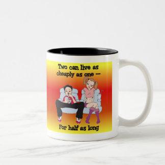 Newlywed Truths 1 Two-Tone Mug