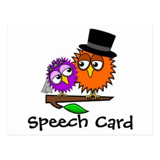 Newlywed Tweets Speech Card