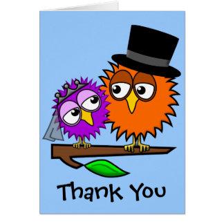 Newlywed Tweets Thank You Card