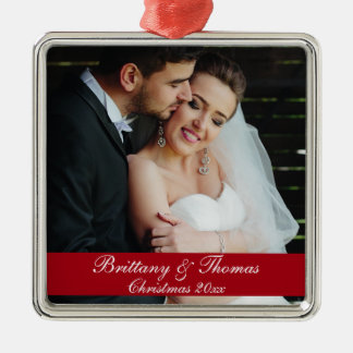 Newlywed Wedding Photo Christmas Ornament S