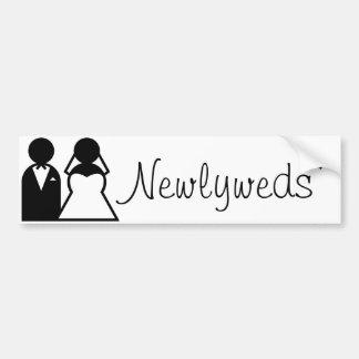 Newlyweds Bumper Sticker