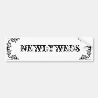 Newlyweds Bumper sticker Car Bumper Sticker