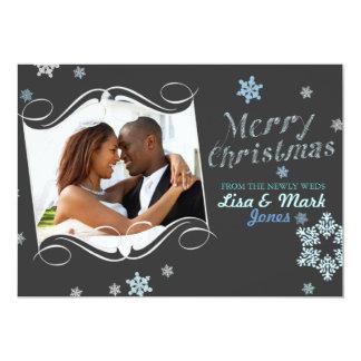 Newlyweds Christmas Photo Card 13 Cm X 18 Cm Invitation Card