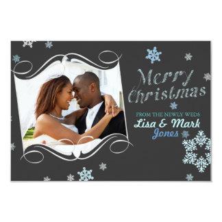 Newlyweds Christmas Photo Card 9 Cm X 13 Cm Invitation Card