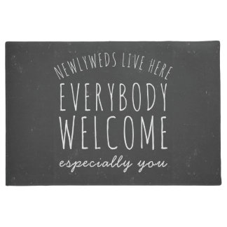 Newlyweds Live Here Everybody Welcome Doormat