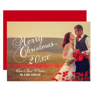 Newlyweds Merry Christmas | Holiday Photo Card 13 Cm X 18 Cm Invitation Card
