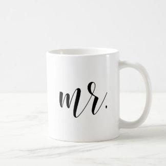 Newlyweds Mr. Modern Calligraphy | Typography Mug