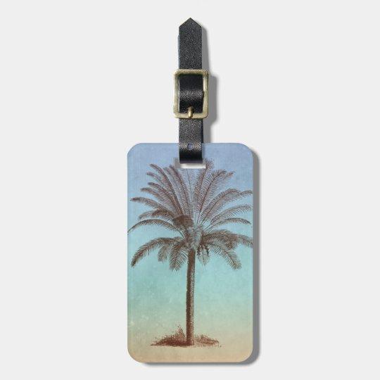 Newlyweds Palm Tree Luggage Tag Tropical Honeymoon