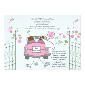 Newlyweds Post Wedding Brunch Invitation