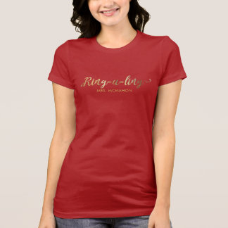 Newlyweds Ring-e-ling First Christmas Holiday T-Shirt
