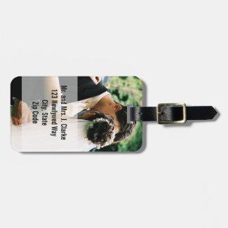 Newlyweds Photo Luggage Tags