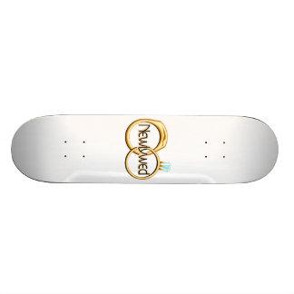 Newlyweds Wedding Rings Skate Deck