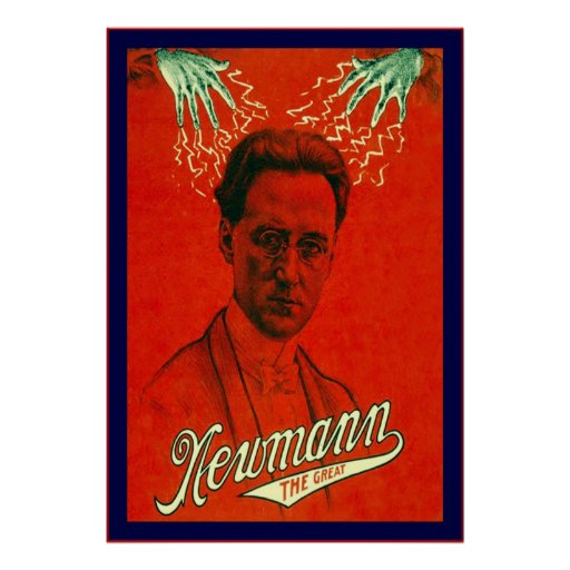 Newmann the Great ~ Vintage Magician Poster