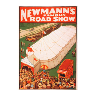 Newmann's Famous Magic Road Tent Show Poster Stretched Canvas Prints