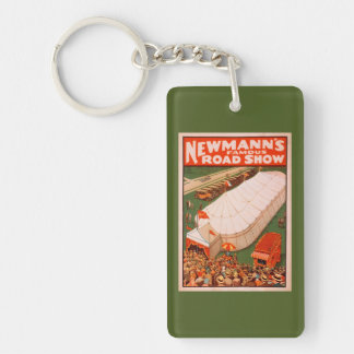 Newmann's Famous Magic Road Tent Show Poster Double-Sided Rectangular Acrylic Key Ring